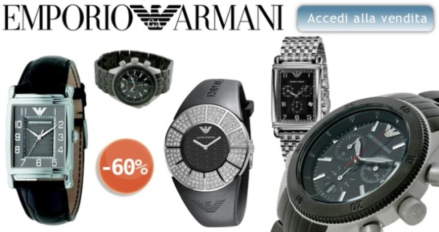 Sconti del 60% su Emporio Armani Watches