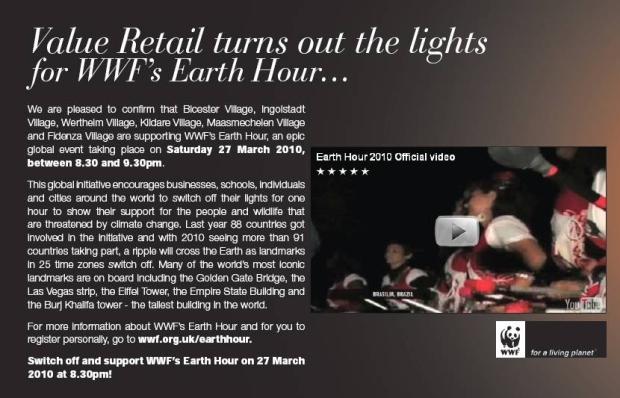 Earth Hour 2010. Visualizza il filmato ufficiale dedicato all'evento.