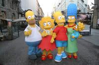 I Simpson. I pupazzi per il lancio del film a Milano - Clicca per ingrandire