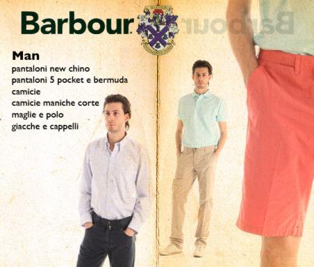 Saldi privati BARBOUR su abbigliamento uomo: pantaloni, bermuda, camicie, camiciole, polo, maglie, giacche e cappelli.