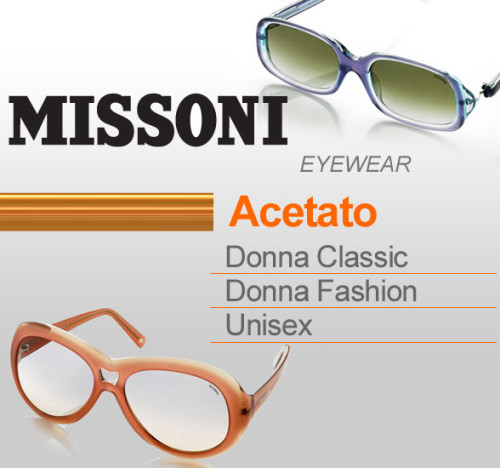 Saldi privati MISSONI EYEWEAR in acetato.