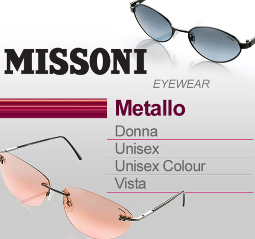 Saldi privati MISSONI EYEWEAR in metallo.