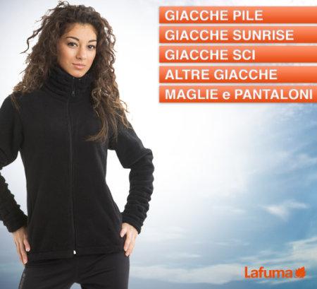 Saldi privati Lafuma donna: sconti del 50% su giacche pile, giacche sunrise, giacche sci, maglie e pantaloni. Approfitta dell'offerta ora!