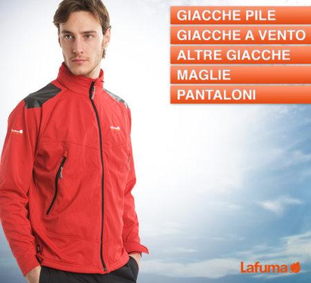 Saldi privati Lafuma uomo: sconti del 50% su giacche pile, giacche a vento, maglie, pantaloni. Iscriviti e risparmia!
