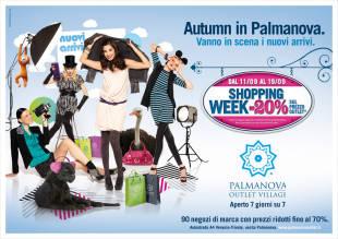 Shopping Week, la settimana degli acquisti scontati del 20%, è la promozione attiva da sabato 11 fino a domenica 19 settembre 2010 sui nuovi capi delle collezioni autunno/inverno 2010. - Clicca per ingrandire.