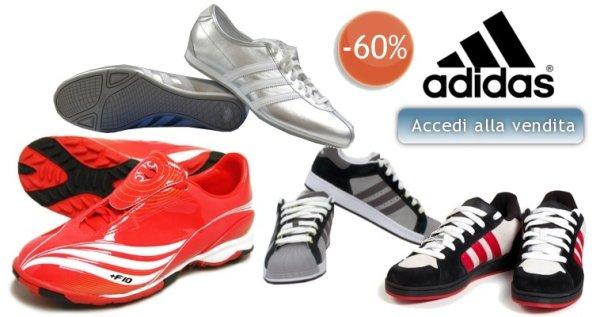 Sconti del 60% su scarpe Adidas