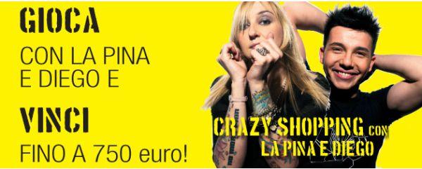Fidenza Outlet Village, giovedi 3 settembre Crazy Shopping con La Pina e Diego!